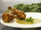 Супа от земни ябълки с печени пилешки...